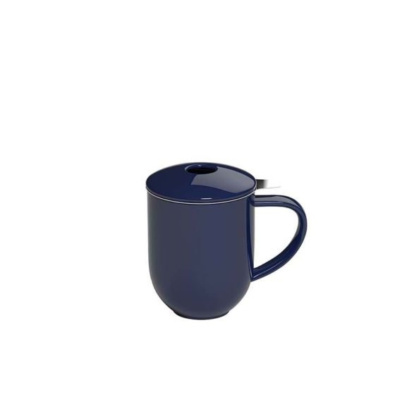 300ml Pro Tea mug with stainless infuser and lid in denim made by Loveramics