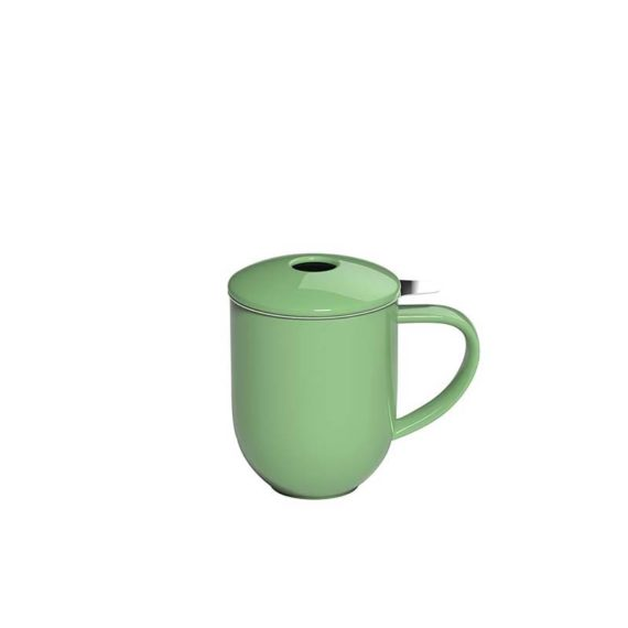300ml Pro Tea mug with stainless infuser and lid in mint made by Loveramics