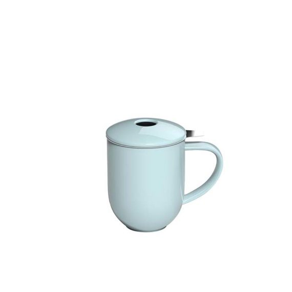 300ml Pro Tea mug with stainless infuser and lid in river blue made by Loveramics